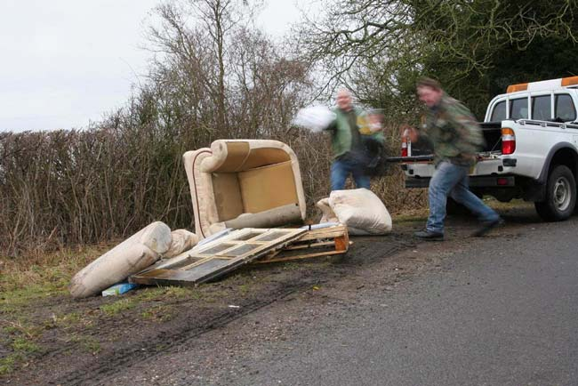 Don't feed the flytippers!